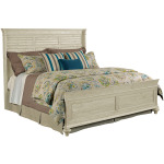 Weatherford Shelter Bed -  Cal King - Cornsilk