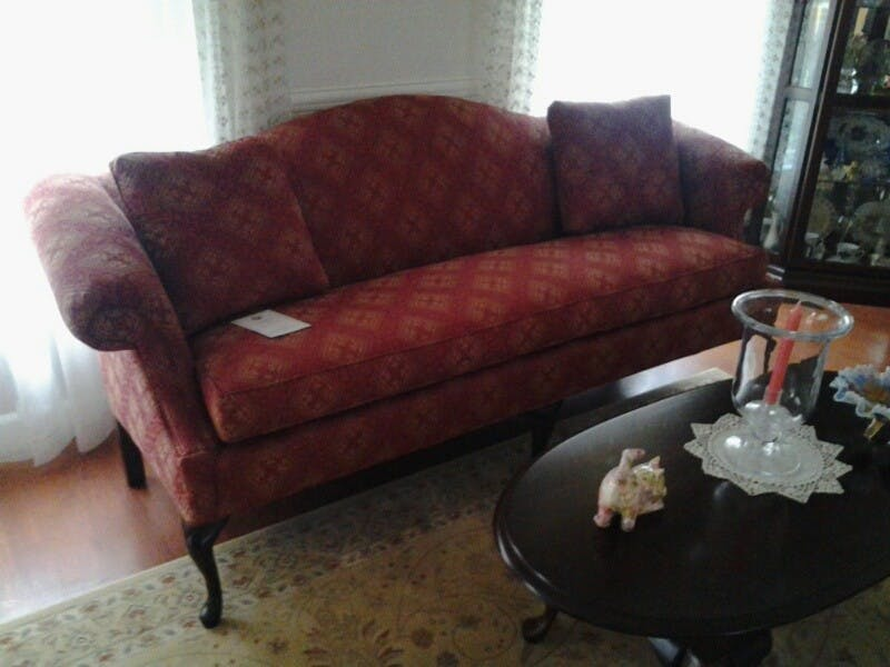 Friendship Upholstery Camelback Sofa Wendy Saylor